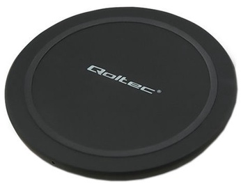 Qoltec Ring Wireless Charger Qualcomm QuickCharge 3.0 10W Black