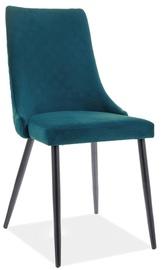 Ēdamistabas krēsls Signal Meble Piano B Velvet 77, tirkīza