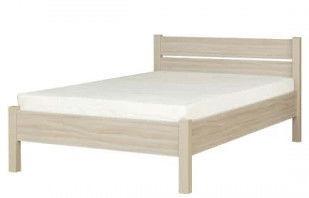 Кровать Bodzio Amadis Latte, 200x120 см, с матрасом, с решеткой