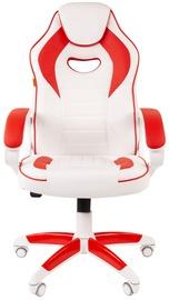 Spēļu krēsls Chairman Game 16, balta/sarkana