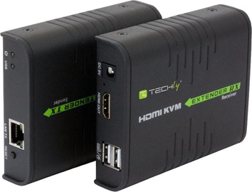 Techly 028214 HDMI KVM Extender with USB by Cat. 5/5e/6 Cable 120m