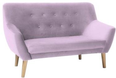 Dīvāns Signal Meble Nordic 2 Velvet Bluvel 91 Pink, 136 x 75 x 90 cm