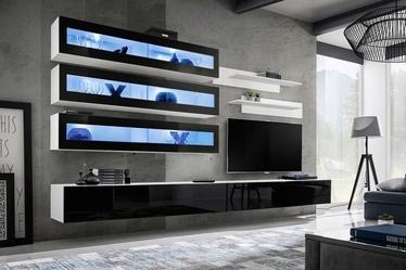 Dzīvojamās istabas mēbeļu komplekts ASM Fly J2 Black/White
