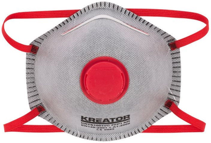 Respirators Kreator KRTS1001VC FFP1 with Valve 2pcs