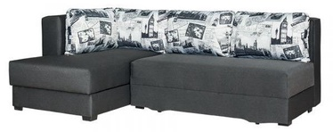 Stūra dīvāns Bodzio Judyta Noble Graphite/London 2, 225 x 155 x 77 cm