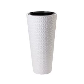 Puķu pods Form Plastic Diamond Slim 2930 D30 011 White