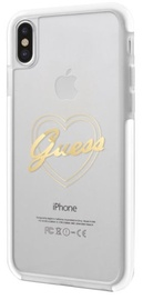 Guess Shock Proof Hard Back Case For Apple iPhone X Transparent/Rose Gold