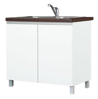 Bodzio Sandi Kitchen Sink Cabinet 90x86x52cm Polished White