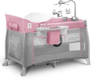 Ceļojuma gultiņa Lionelo Thomi 2in1 Baby Pink