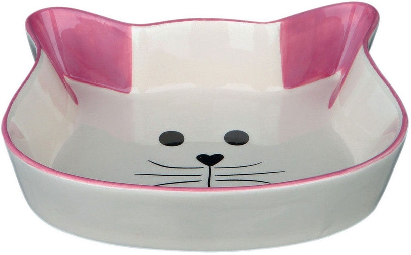 Trixie Ceramic Bowl Cat Face 12cm