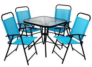 Āra mēbeļu komplekts Verners ZRGS022 402608, melns/zils, 1-4 sēdvietas