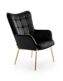 Кресло Halmar Castel 2, золотой/черный, 71 см x 79 см x 97 см