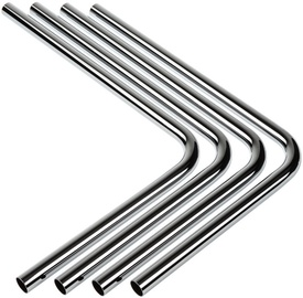 BitsPower Pre-bent 90-Degree Brass Hard Tubing OD16MM Silver 4-pack