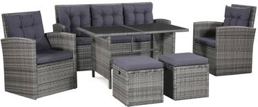 Комплект уличной мебели VLX 6 Piece Garden Lounge Set With Cushions 43960