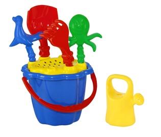 Smilšu kastes rotaļlietu komplekts N06, daudzkrāsains