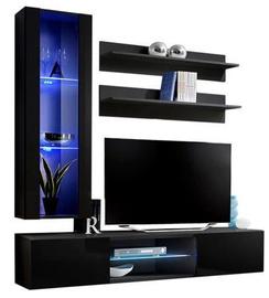 ASM Fly S2 Living Room Wall Unit Set Black
