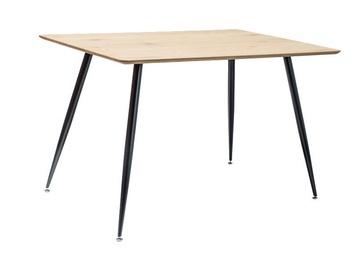 Обеденный стол Signal Meble Remus Oak/Black, 1200x800x755 мм