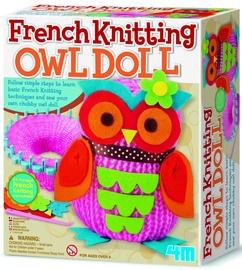 Adīšanas radošais komplekts 4M French Knitting Owl Doll 02764