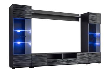 Dzīvojamās istabas mēbeļu komplekts Furnival Modica, melna