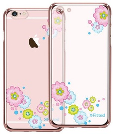 X-Fitted Flourishing Bloom Swarovski Crystals Back Case For Apple iPhone 6/6s Rose Gold