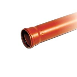 Caurule ārēja D110 1m SN8 PVC (Magnaplast)