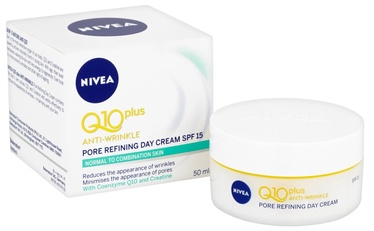 Sejas krēms Nivea Q10 Plus Anti Wrinkle Day Cream SPF15 Pnm, 50 ml