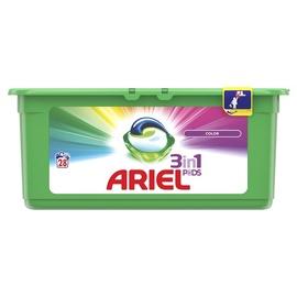 Kapsulas mazgāšanai Ariel Color 3 in 1, 28 gab.