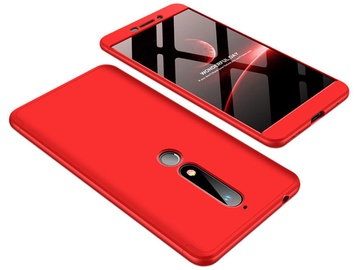Hurtel 360 Protection Full Body Cover For Nokia 6.1 Red