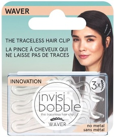 Invisibobble Waver Hair Clips 2.0 3pcs Crystal Clear