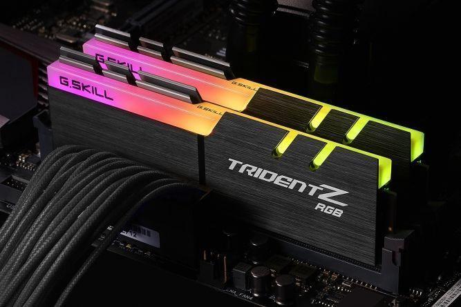 G.SKILL Trident Z RGB 64GB 3600MHz CL17 DDR4 KIT OF 4 F4-3600C17Q-64GTZR