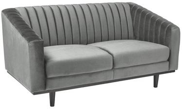 Dīvāns Signal Meble Asprey 2 Velvet Grey/Wenge, 150 x 60 x 78 cm
