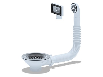 Ani Plast 115 Sink Siphon Overflow 3 1/2''