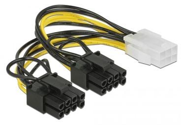Delock Cable PCI-e 6pin / PCI-e 6+2pin x 2 0.15m