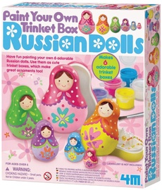 4M Paint Your Own Trinket Box Russian Dolls 4617