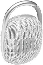 Bezvadu skaļrunis JBL Clip 4, balta, 5 W