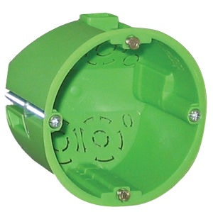 Verners Mounting Box For Plasterboard Green D68 HW050