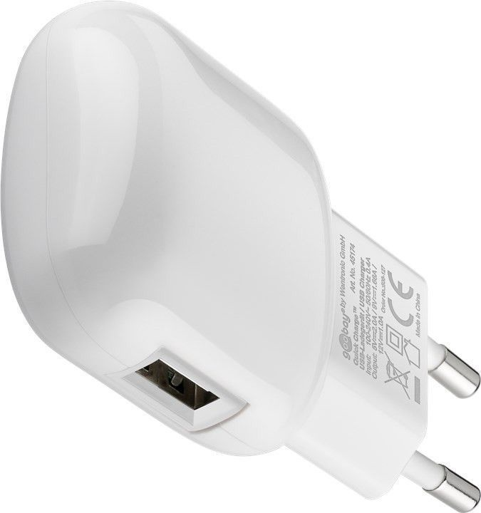 Goobay QuickCharge 3.0 USB Charger White