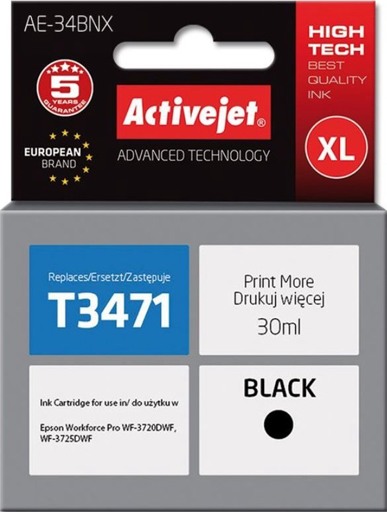 ActiveJet Cartridge AE-34BNX For Epson 30ml Black