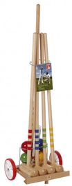 Londero Croquet Cart Set 80cm 4 Players Wood