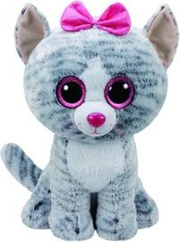 Плюшевая игрушка TY Beanie Boos Cat Kiki Gray, 24 см