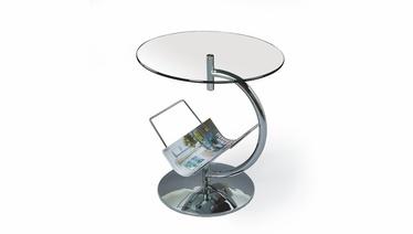 Kafijas galdiņš Halmar Alma Transparent, 450x450x500 mm