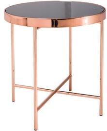 Kafijas galdiņš Signal Meble Loft Gina C, melna/vara, 430x430x450 mm