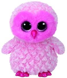 Mīkstā rotaļlieta TY Beanie Boos Owl Twiggy Pink, 24 cm