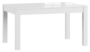 Обеденный стол Szynaka Meble Jowisz White, 1360x900x760 мм