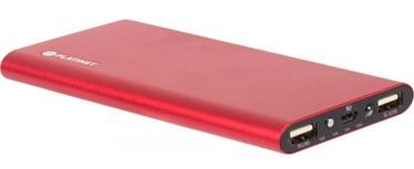 Platinet Li-Po Power Bank 2xUSB w/ Flashlight 8000mAh Red