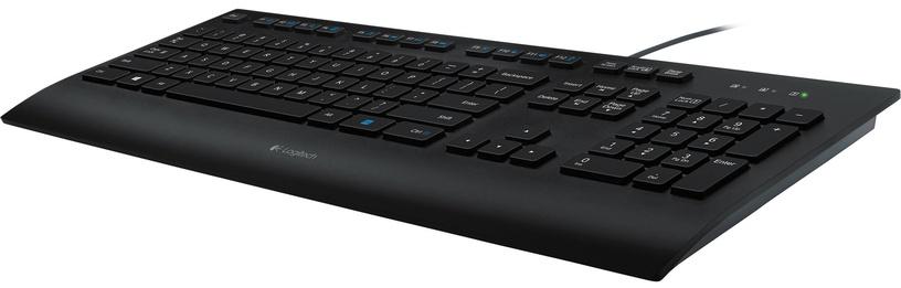 Logitech Corded Keyboard K280e US Black