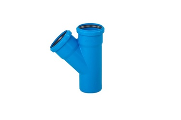 Magnaplast 3-Way Connector Pipe Blue 110mm 87°