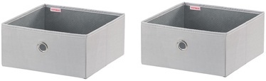 Leifheit Cloth Small Box 2PCS 27.5x28x13cm Grey/Combi System