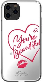 Kingxbar Angel Mirror You're Beautiful Back Case With Swarovski For Apple iPhone 11 Pro Transparent