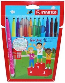 Stabilo Fibre-Tip Pens Trio A-Z 12pcs
